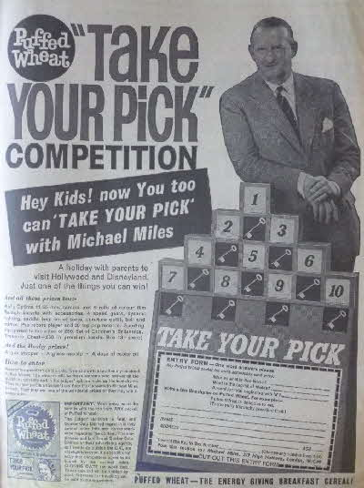 1962 Quaker Puffed Wheat Take your Pick Competition (2)
