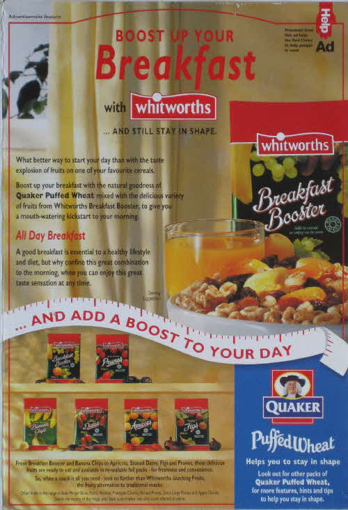 1996 Puffed Wheat Breakfast with Whitworths