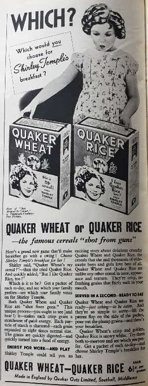 1939 Quaker Oats Shirley Temple Photo (5)