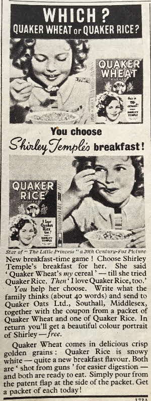 1939 Quaker Oats Shirley Temple Photo (6)
