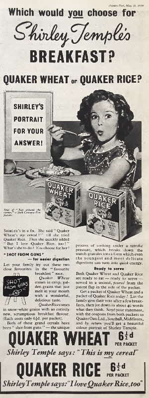 1939 Quaker Oats Shirley Temple Photo (7)
