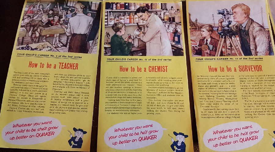 1960s Puffed Wheat Your Child's Career 2nd Series (2)