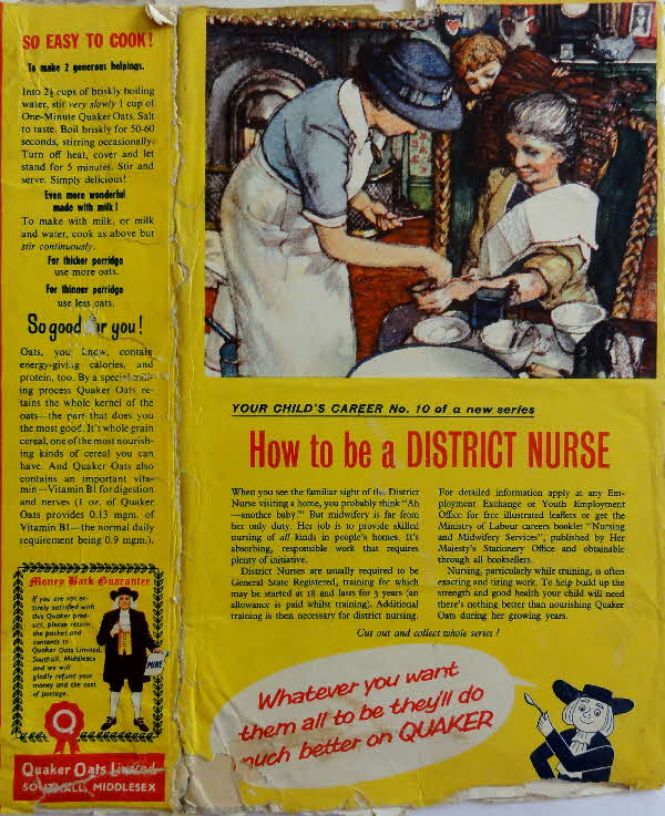 1960s Quaker Oats Your Childs Career No 10 District Nurse