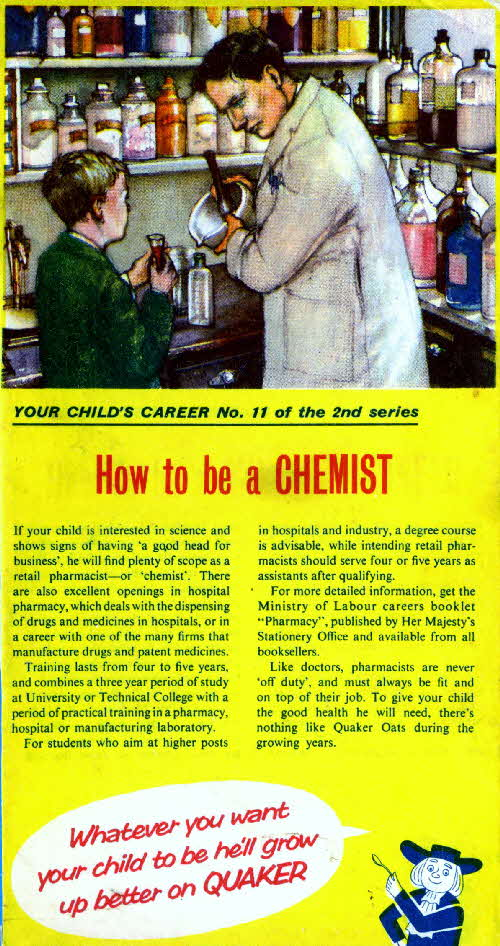 Quaker Puffed Wheat Your Childs Career No 11 2nd series Chemist