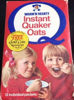 1971 Instant Quaker Oats  Gold Coin