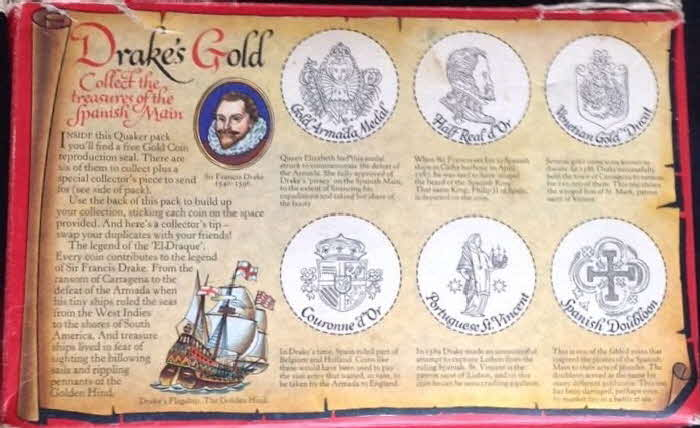 1971 Instant Quaker Oats  Gold Coin2