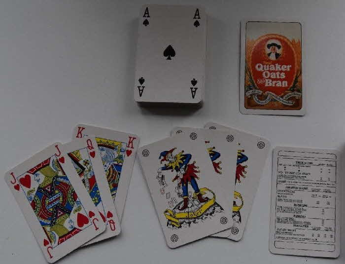 1980s Quaker Oat Bran Playing Cards 2
