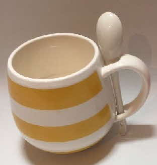 Oat So Simple Cuppa Porridge Mug & Spoon yellow (1)
