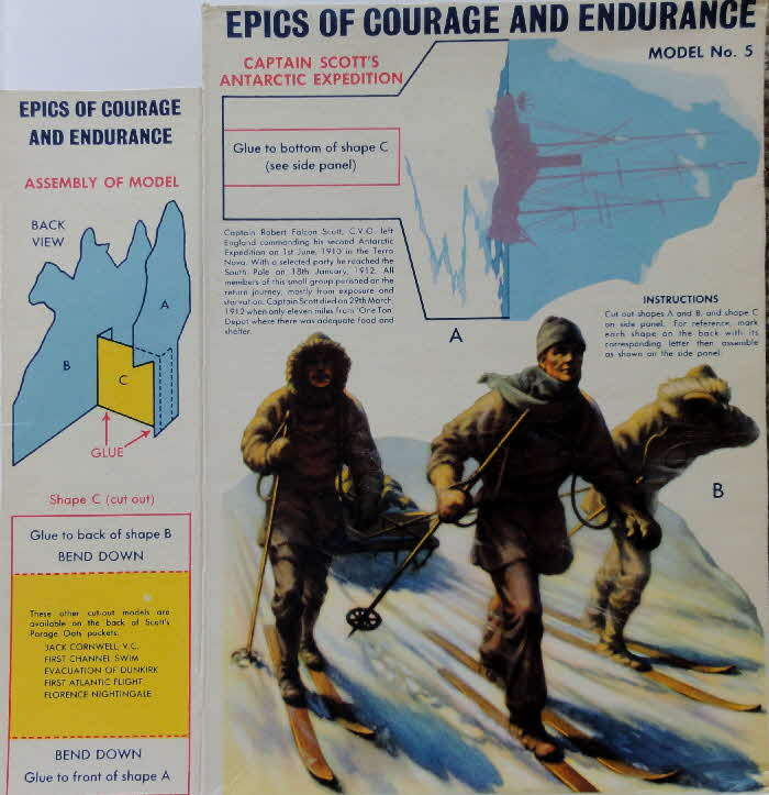 1950s Scots Oats Epics of Courage and Endurance No 5 Scott of Antartic