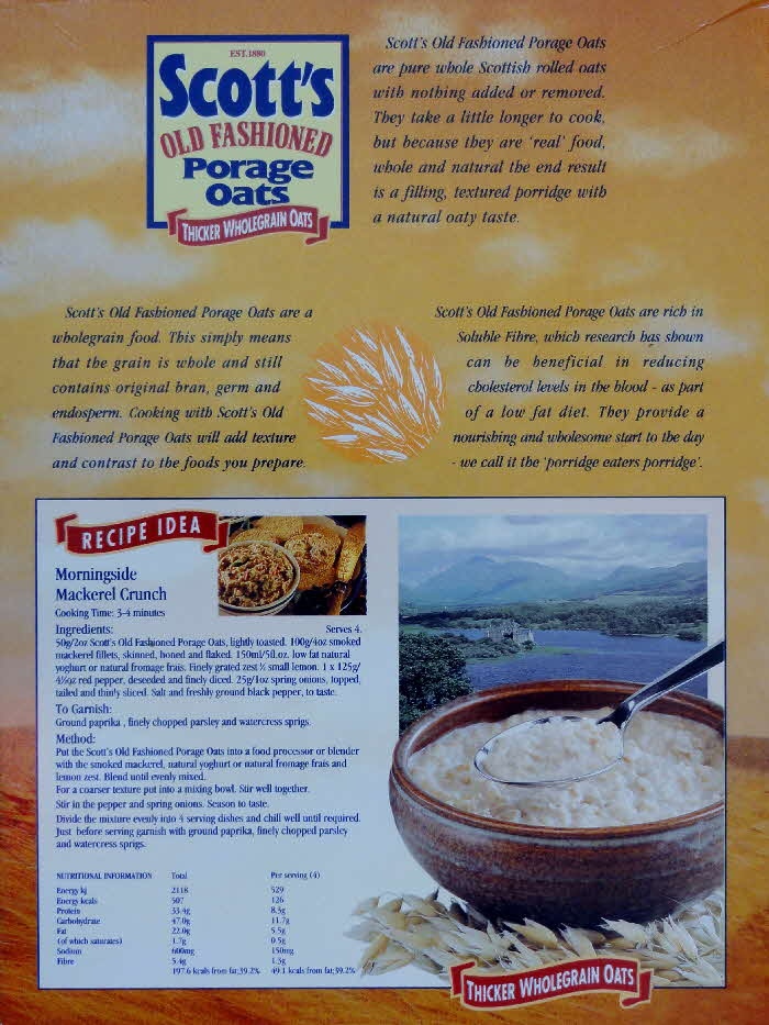 1995 Scotts Oats & Recipe idea (2)