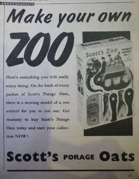 1958 Scotts Oats Zoo animals (2)