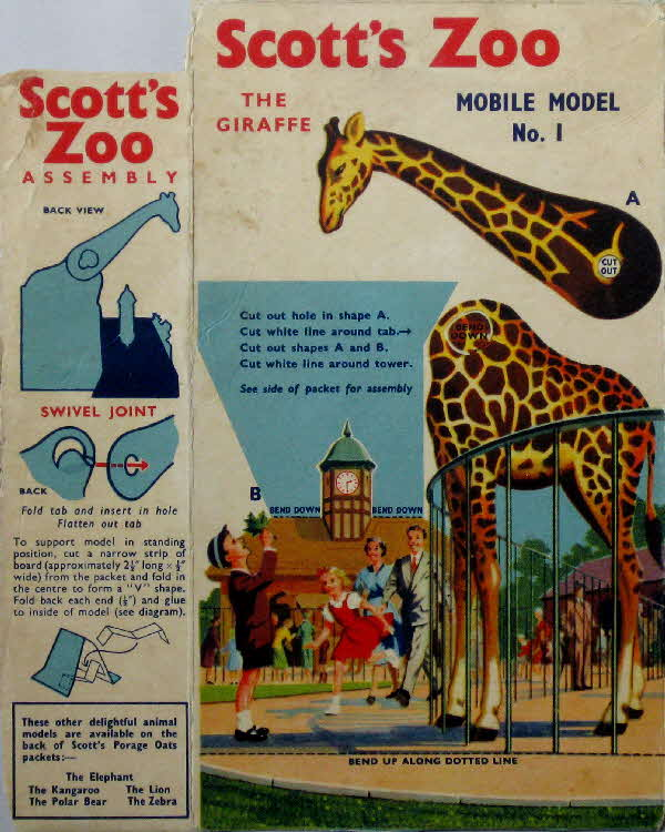1958 Scotts Porage Zoo Giraffe