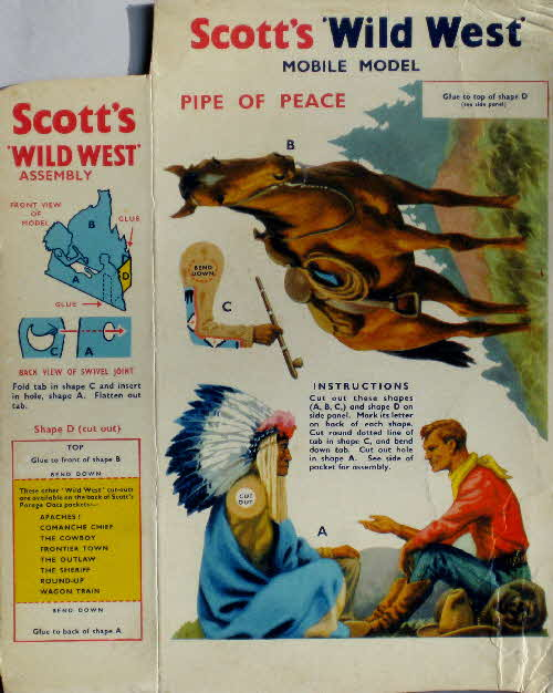 1950s Scotts Porage Wild West Pipe of Peace