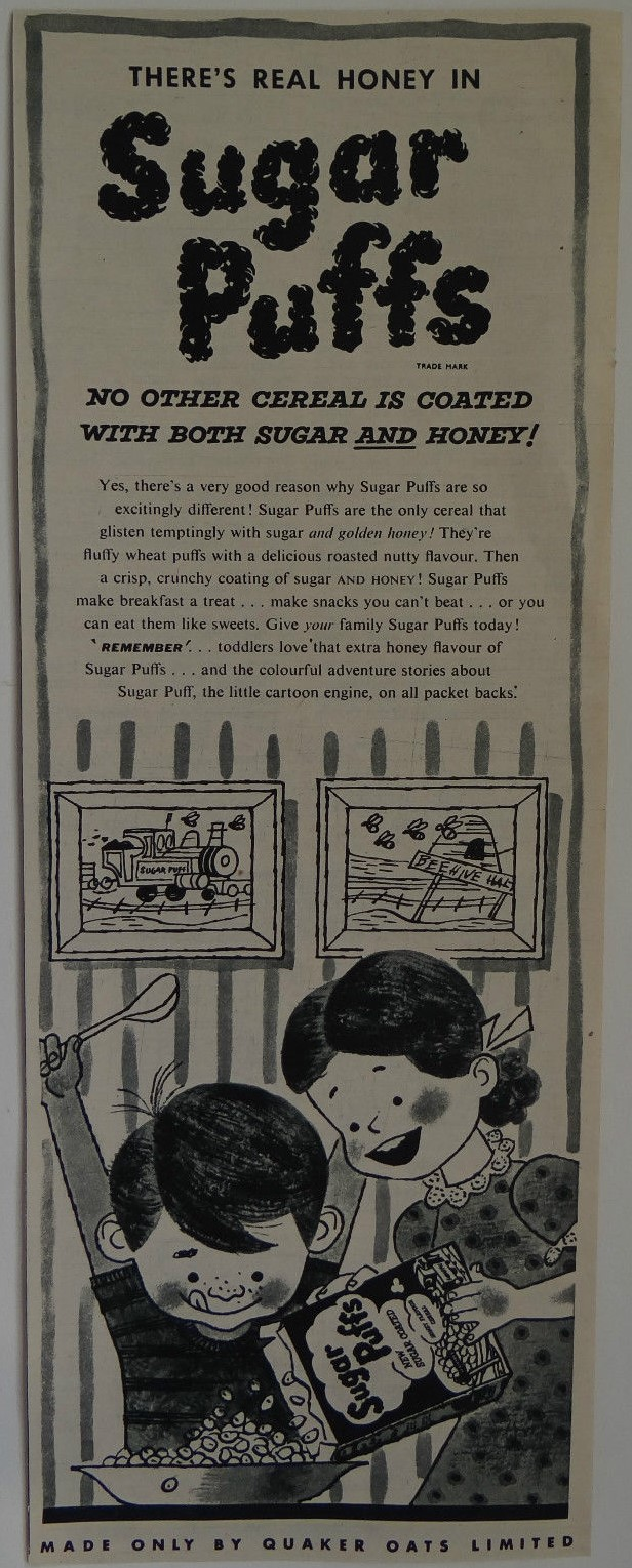 1953 Sugar Puffs Adventure ad