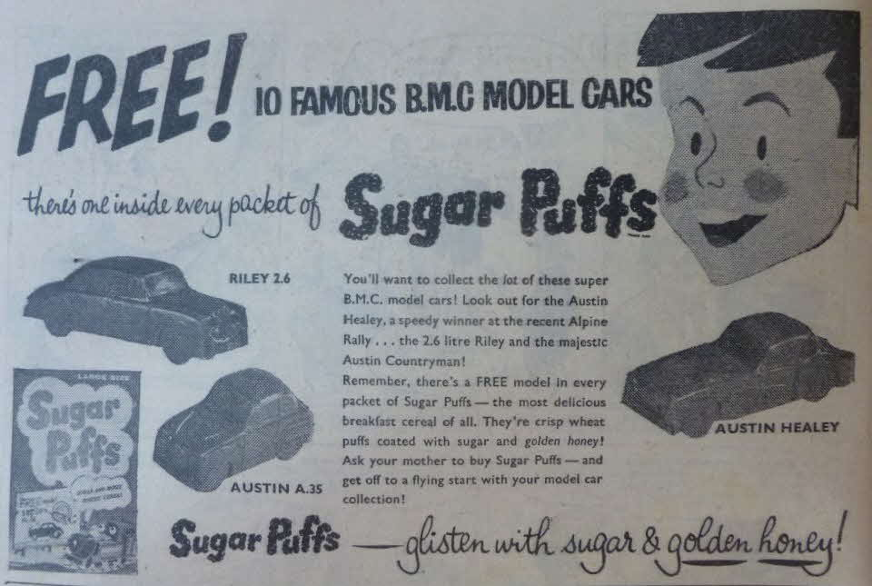 1958 Sugar Puffs BMC Cars