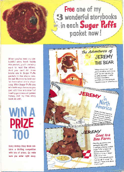 1961 Sugar Puffs Jeremy Bear Story Books (2)