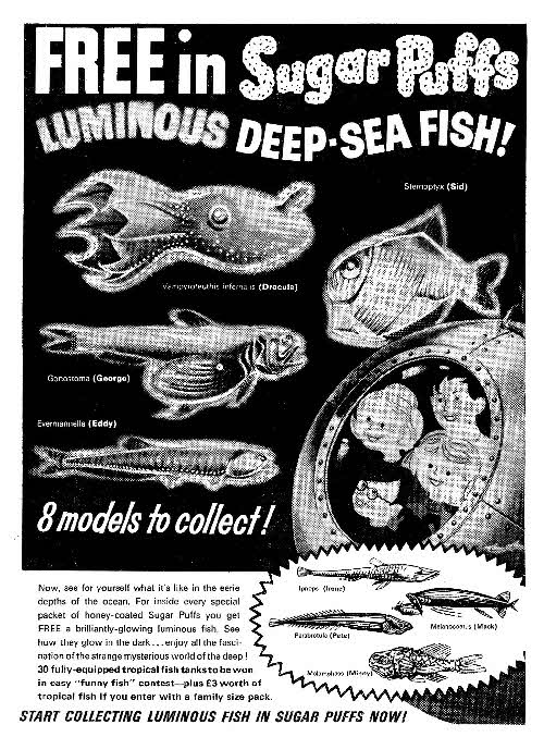1964 Sugar Puffs Luminous deep sea fish
