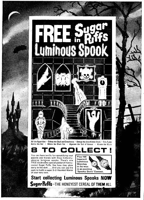 1965 Sugar Puffs Luminous Spooks