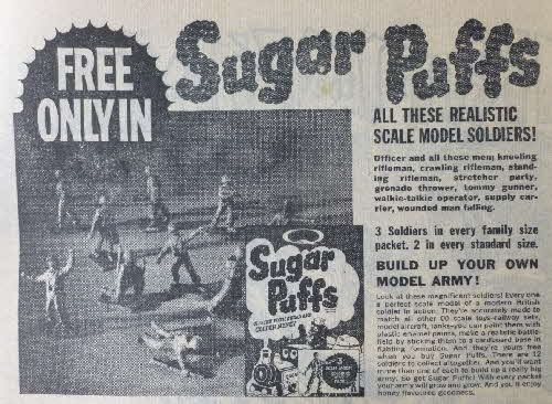 1962 Sugar Puffs soldiers