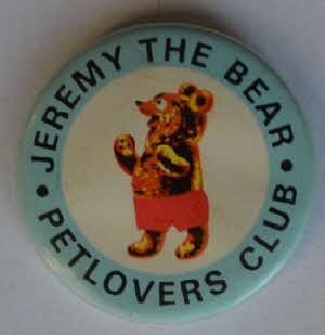 1964 Sugar Puffs Jeremy Bear Petlovers Club badge