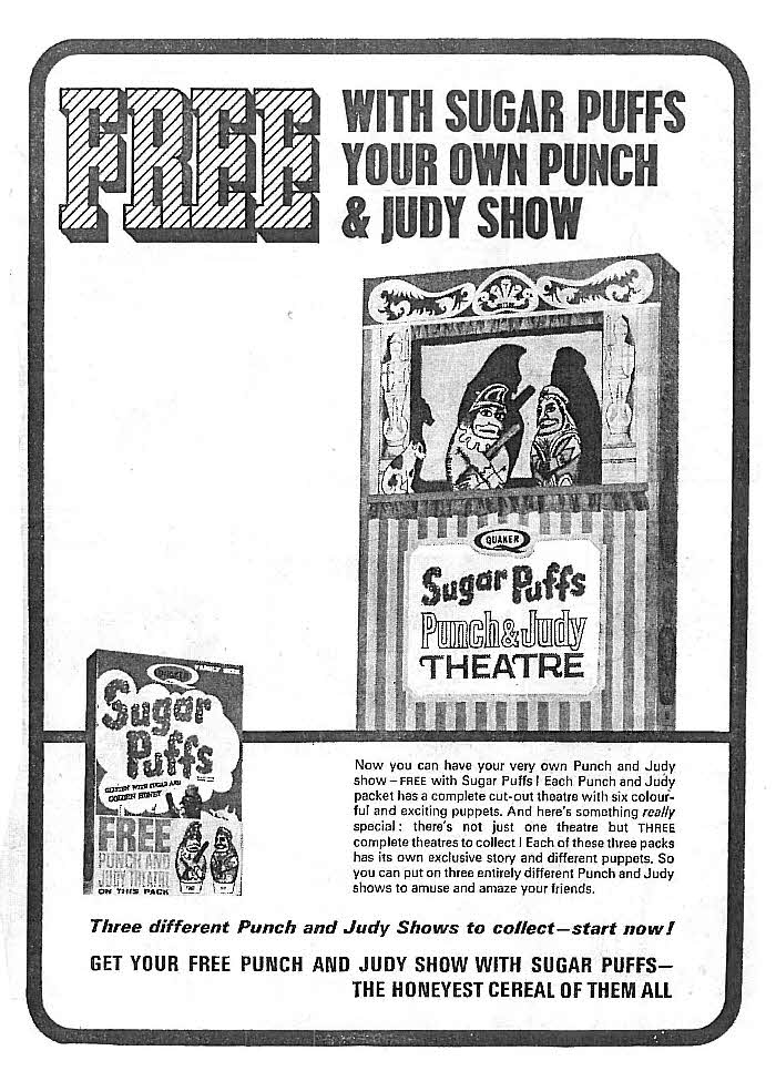 1966 Sugar Puffs Punch & Judy Theatre