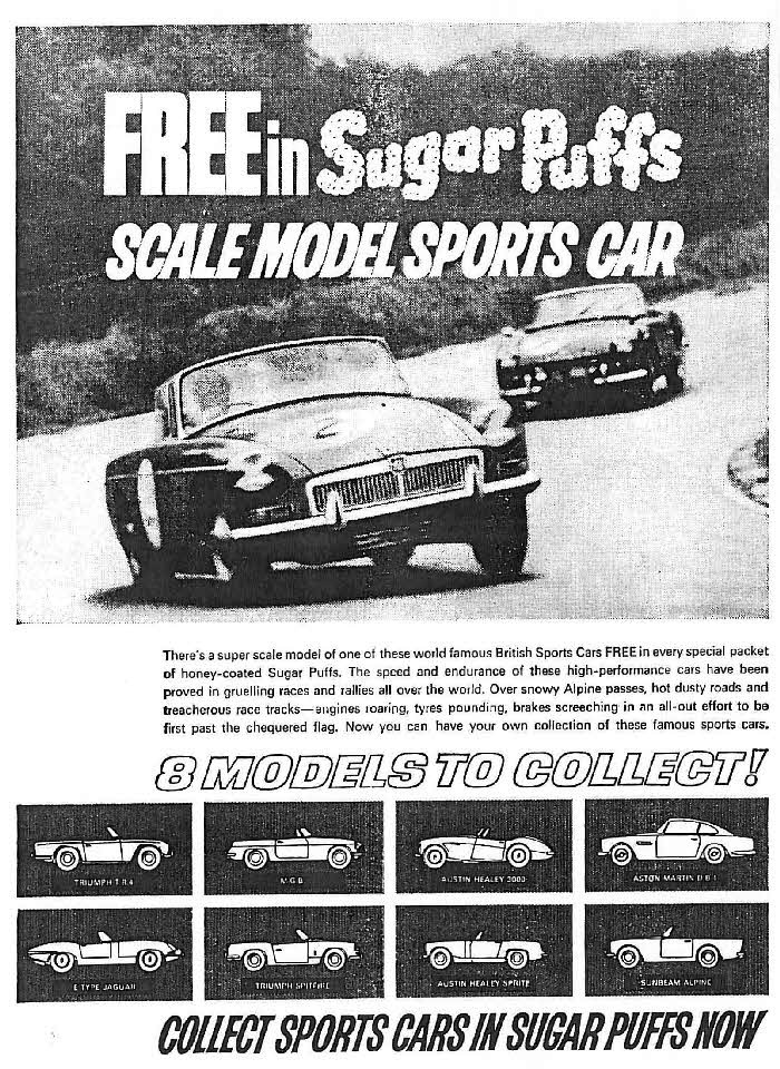 1965 Sugar Puffs Model Sports Cars2