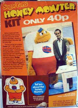 1977 Sugar Puffs Honey Monster Kit offer (betr)