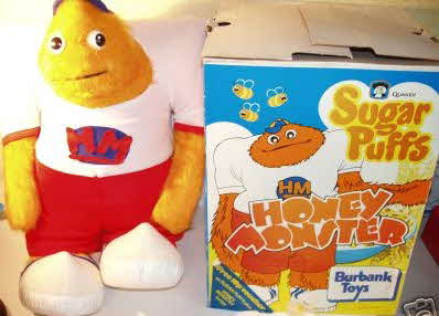 1977 Honey Monster Soft Toy Send away offer with Sugar Puffs cereal