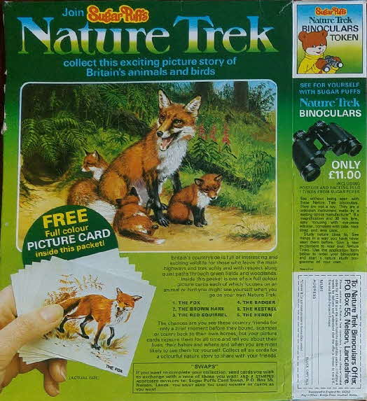 1976 Sugar Puffs Nature Trek Cards