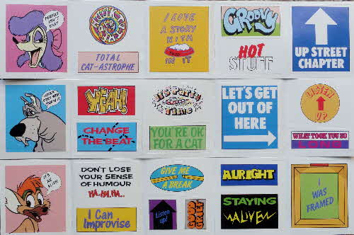 1989 Sugar Puffs Oliver & Co stickers (1)