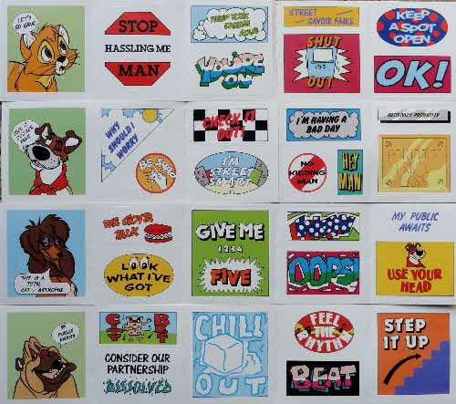 1989 Sugar Puffs Oliver & Co stickers (2)