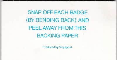 1988 Sugar Puffs Snappy Badges reverse