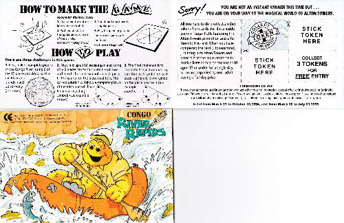 1994 Sugar Puffs Alton Towers Pocket Game - Congo River (2)