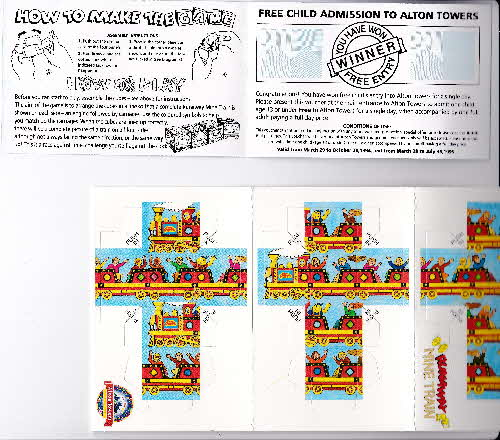 1994 Sugar Puffs Alton Towers Pocket Game - Runaway Train (2)