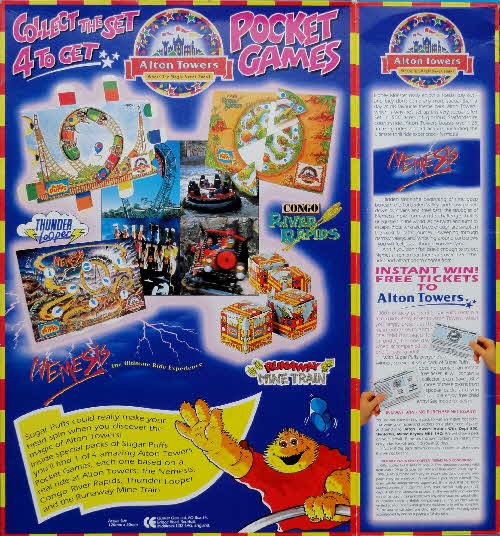 1994 Sugar Puffs Alton Towers Pocket Games