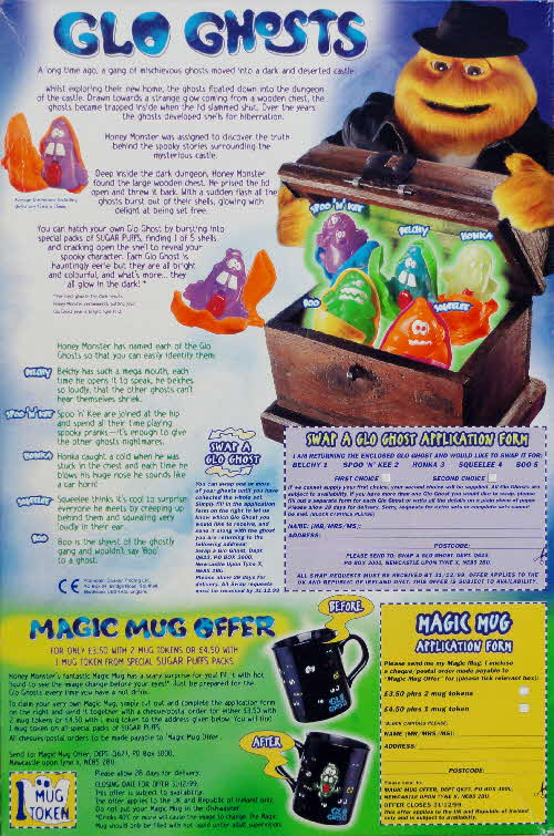 1998 Sugar Puffs Glo Ghosts & Mug