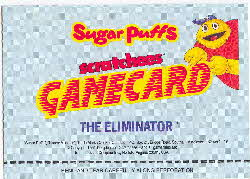 1991 Sugar Puffs Scratchees Game cards 2