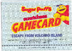1991 Sugar Puffs Scratchees Game cards 3