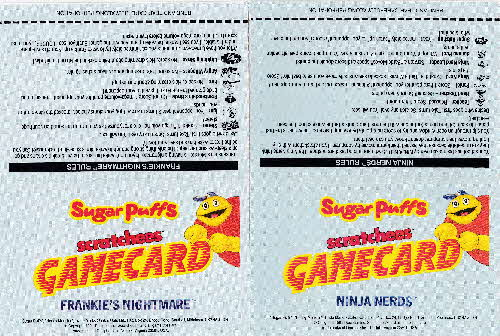 1991 Sugar Puffs Scratchees Game cards open (1)