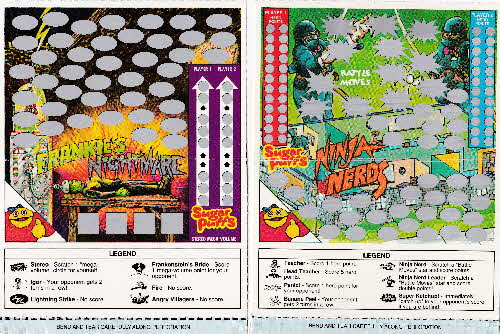 1991 Sugar Puffs Scratchees Game cards open (2)