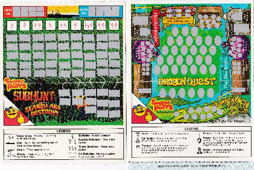 1991 Sugar Puffs Scratchees Game cards open 2 (2)