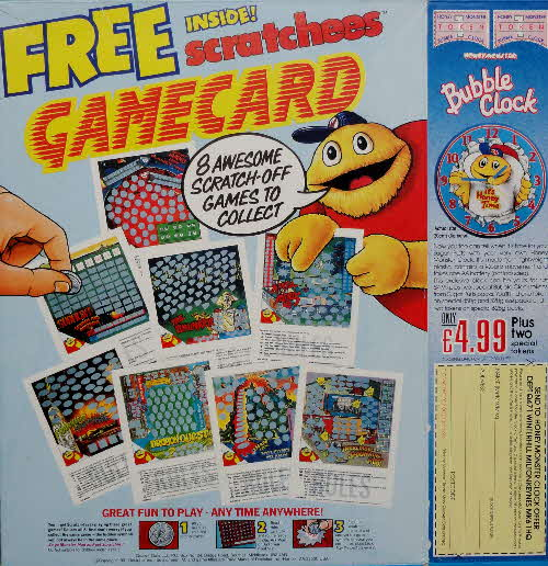 1991 Sugar Puffs Scratchees Gamecard & Bubble Clock