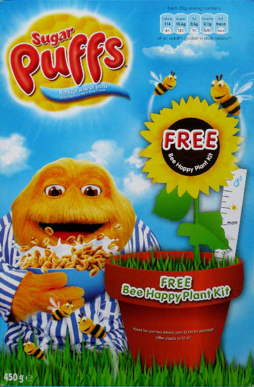 2007 Sugar Puffs Bee Happy Plant Kit front