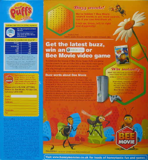 2007 Sugar Puffs Bee Movie Competition