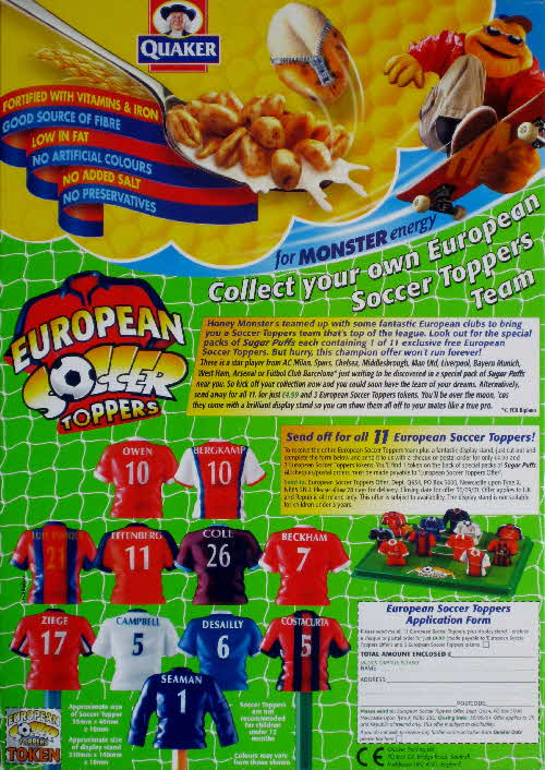 2000 Sugar Puffs European Soccer Toppers