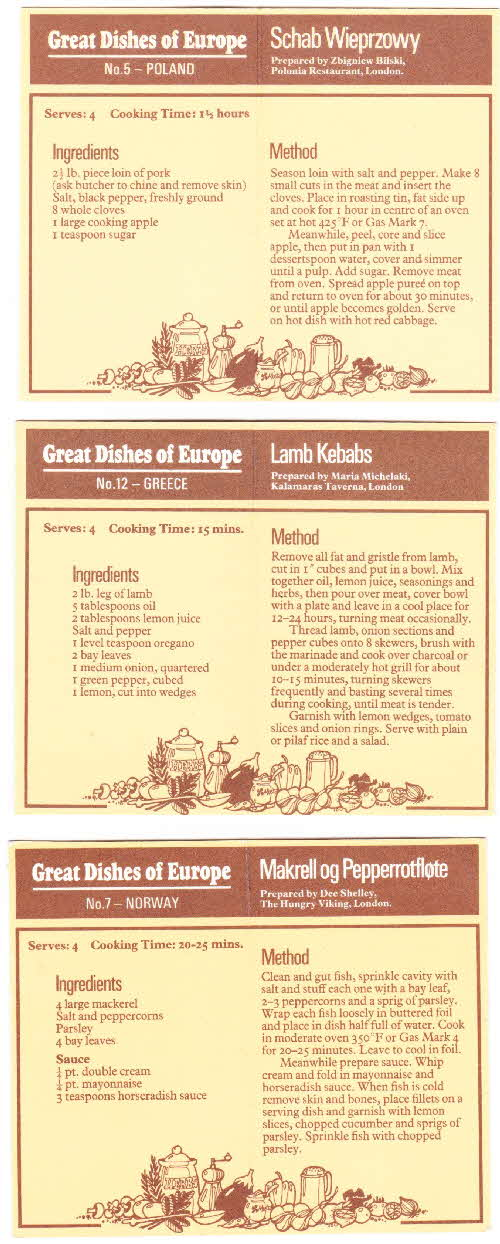 1975 - Great Dishes of Europe (3)