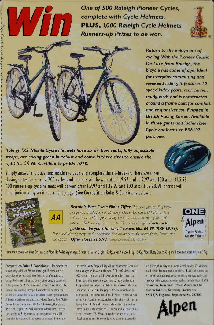 1997 Alpen Raleigh Bike Competition