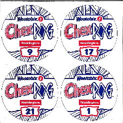 1995 Chex Milk Pogs 1st Series free with Chex Weetabix cereal
