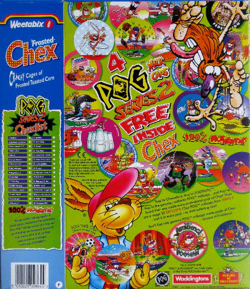 1995 Chex Pogs Milk Caps series 2