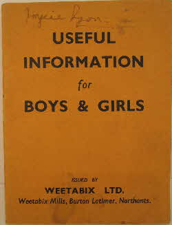 1930s Weetabix Useful Information Booklet (1)